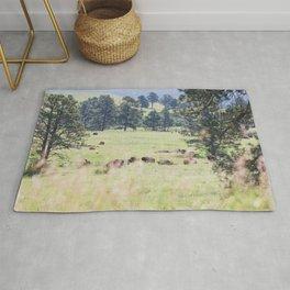 Where the Buffalo Roam - Nature Photography Rug