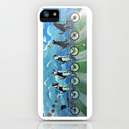 Five Doggos and a Cat iPhone Case