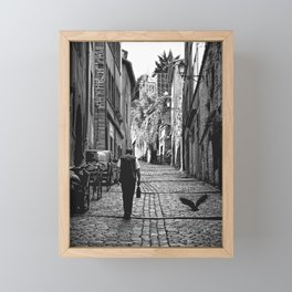 walking home Framed Mini Art Print