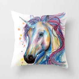 Whimsical Unicorn Throw Pillow