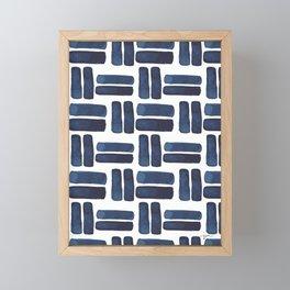 'bold brush strokes' - pattern Framed Mini Art Print