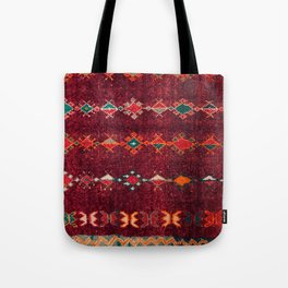 -A8- Colored Traditional Moroccan Carpet Artwork. Tote Bag
