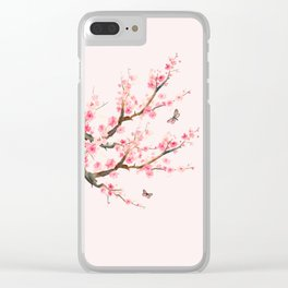 Pink Cherry Blossom Dream Clear iPhone Case