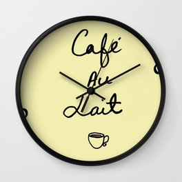 Cafe Au Lait II Wall Clock