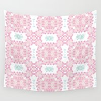 cherry blossoms Wall Tapestries featuring Cherry blossoms by Lena Photo Art