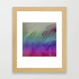 Fluid Nature - Rainbow Smoke - Acrylic Pour Art Framed Art Print