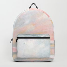 Overwhelm - Pink and Gray Pastel Seascape Backpack