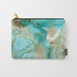 Alcohol Ink 'Mermaid' Carry-All Pouch