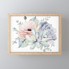 Pretty Succulents by Nature Magick Framed Mini Art Print