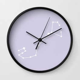 Scorpio Zodiac Constellation - Lavender Wall Clock