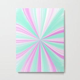 Teal & Pink Mint Pinch Metal Print