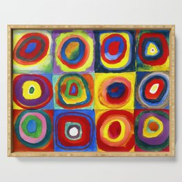 Kandinsky, Farbstudie - Quadrate und konzentrische Ringe, Color Study. Squares with Concentric Circles 1913 Serving Tray