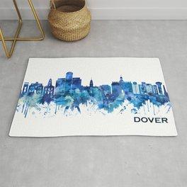 Dover Delaware Skyline Blue Rug