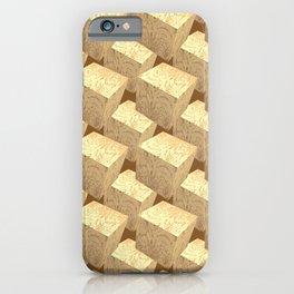 3d Cubes_Woodblocks iPhone Case