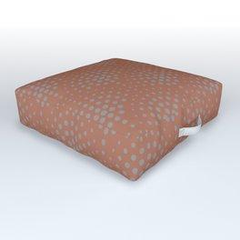 Slate Violet Gray SW9155 Polka Dot Scallop Fan Pattern on Cavern Clay SW 7701 Outdoor Floor Cushion