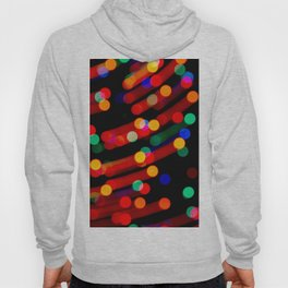 Bokeh Christmas Lights With Light Trails Hoody