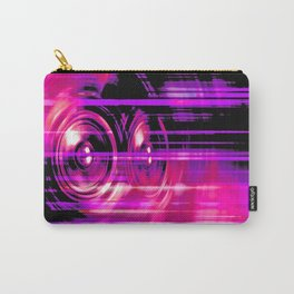 Purple music speakers Carry-All Pouch