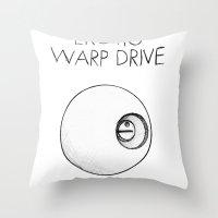 erotic Throw Pillows featuring Erotic Warp Drive by notalkingplz