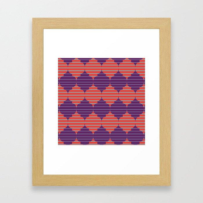 Morocco Neon Framed Art Print