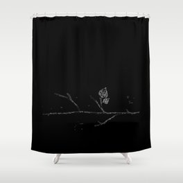 Fall...ing in silence v.2 Shower Curtain