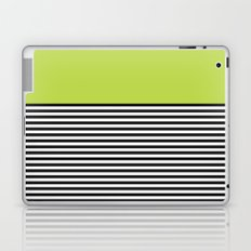 STRIPE COLORBLOCK {LIME} Laptop & iPad Skin