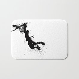 Basketball player dunking in ink Bath Mat