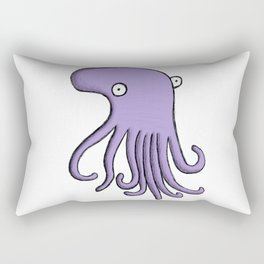 Purple Octopus Rectangular Pillow