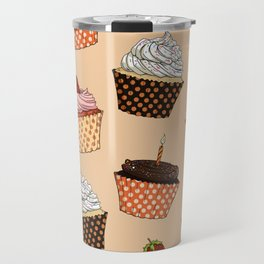Cupcake Pattern Travel Mug