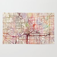 atlanta Area & Throw Rugs featuring Atlanta by MapMapMaps.Watercolors