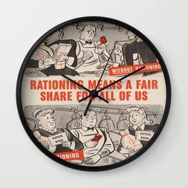 Vintage poster - Rationing Wall Clock