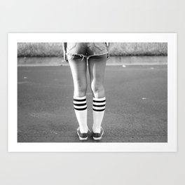 Shorts & Chucks Art Print