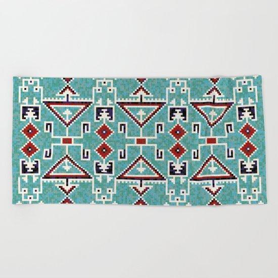 Native American Navajo pattern Beach Towel