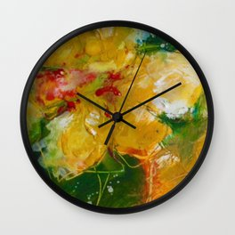 Party Pansies Wall Clock
