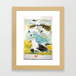 Seagulls Narrative Framed Art Print