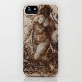 Woman and goose - Leonardo Da Vinci iPhone Case