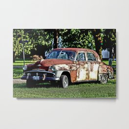 1952 Plymouth Cranbrook Seen Better Days Metal Print