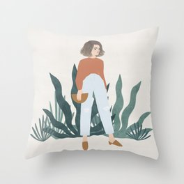 les mules Throw Pillow