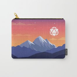 Icy Mountain Sunrise D20 Dice Tabletop RPG Landscape Carry-All Pouch