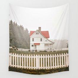 Heceta Head Foggy Day   Oregon Coast Travel Photography Wall Tapestry