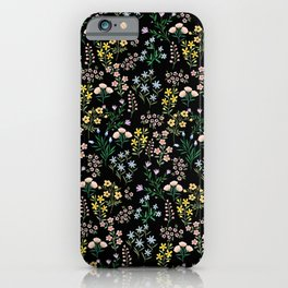 Spring Bloom Black iPhone Case