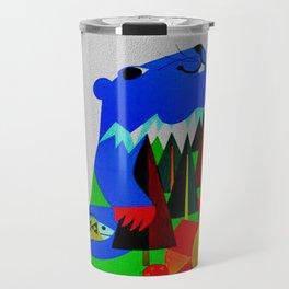 Vintage Davos Switzerland Travel - Beaver Travel Mug