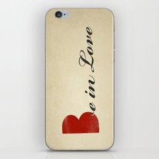 BE IN LOVE iPhone & iPod Skin