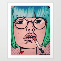 smoke Art Prints featuring Smoke by Danielle Feigenbaum