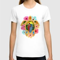 surfboard T-shirts featuring Hawaiian Surfboard Sunset by MacDonald Creative Studios