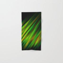 Colorful neon green brush strokes on dark gray Hand & Bath Towel