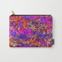 """'NETTIQUETTE"""" Abstract Mixed Media Carry-All Pouch"""