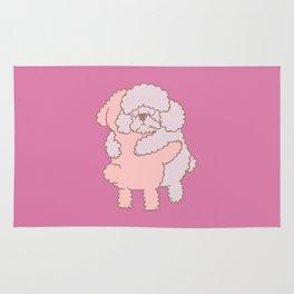 Poodle Hugs Rug