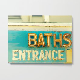 Baths Metal Print