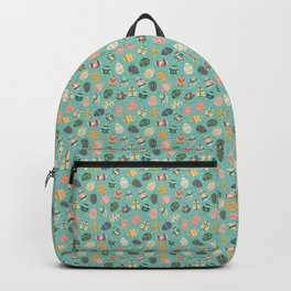 Floral Easter Eggs - Aqua Backpack