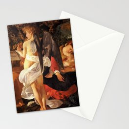 Merisi da Caravaggio - Ruhe auf der Flucht nach Ägypten Stationery Cards